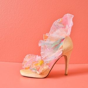 Shoes Of Prey Romance Was Born Ruffle High heel